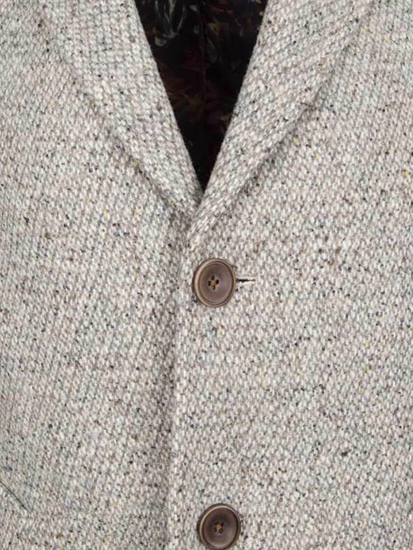 Light Grey Grey Wool Textured  Coat