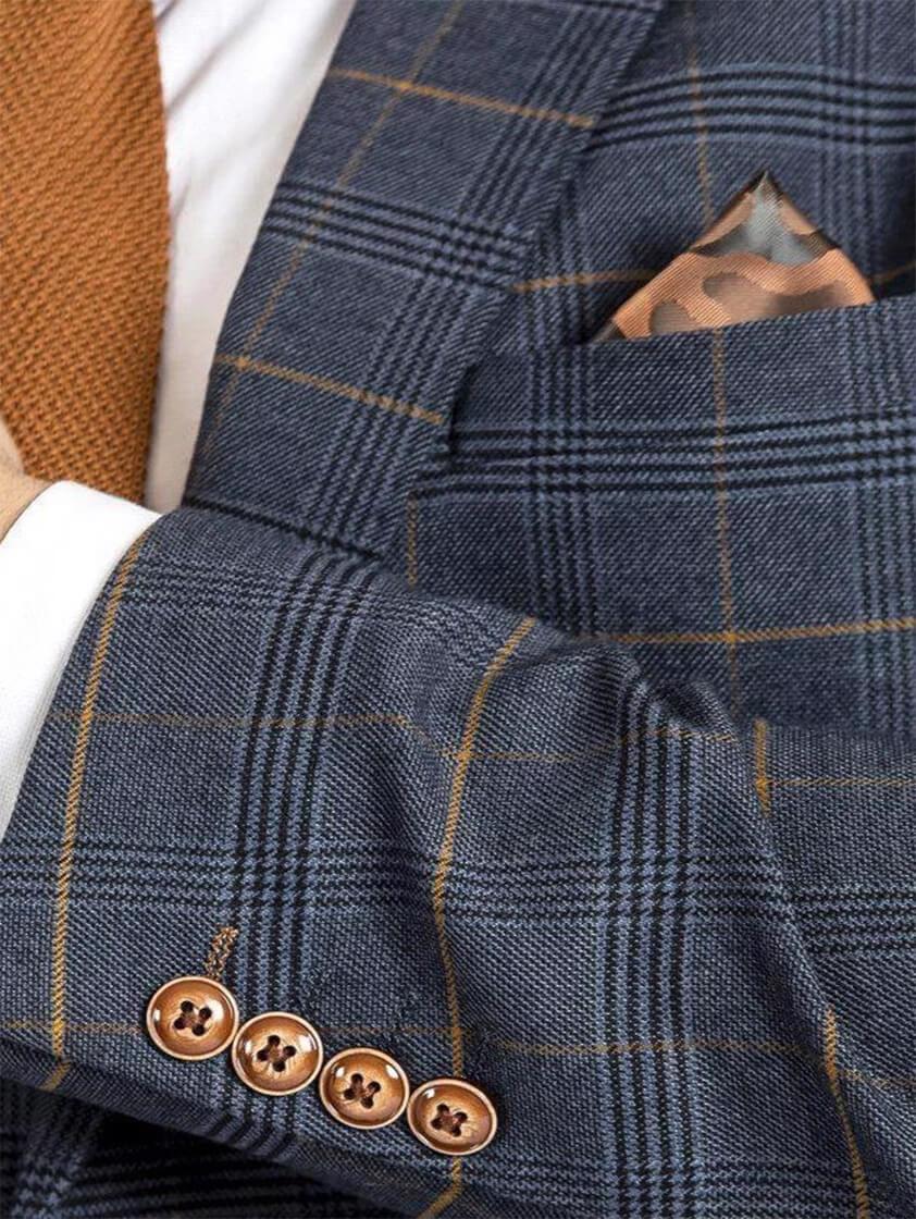 Marine Jenson Check Style Suit
