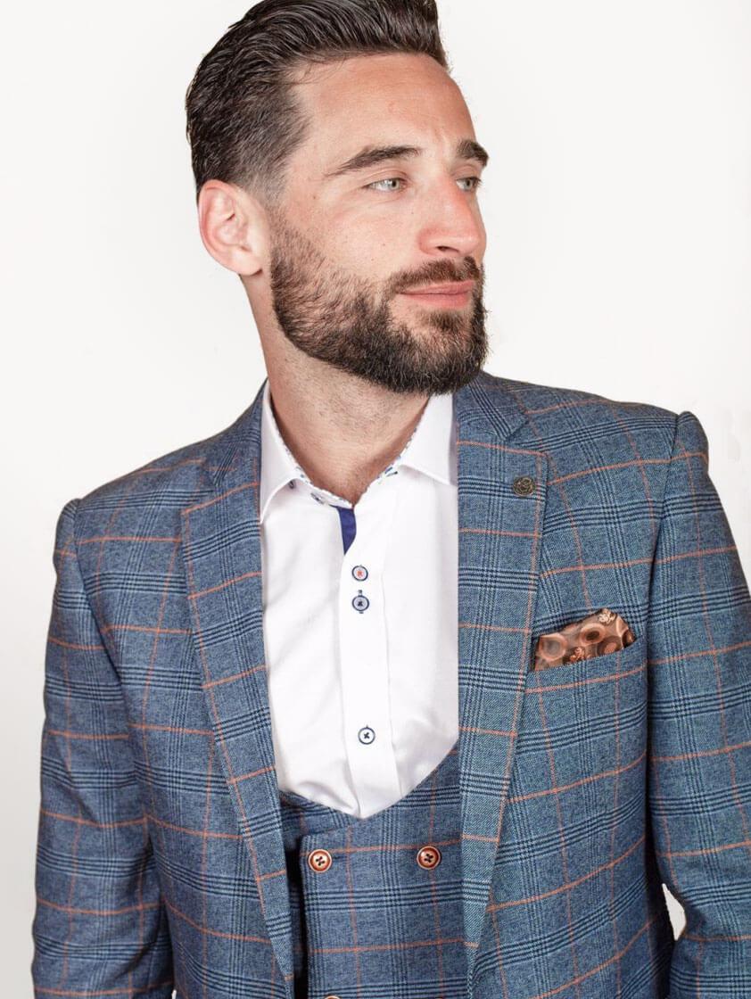 Sky Jenson Check Style Suit