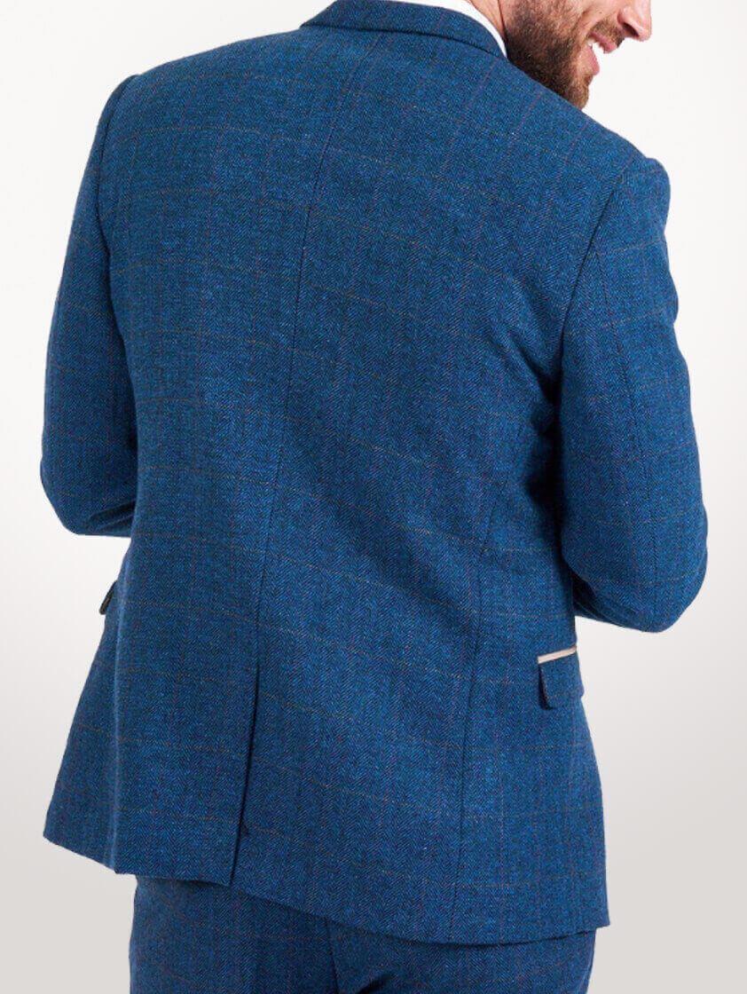 Blue Dion Tweed Suit