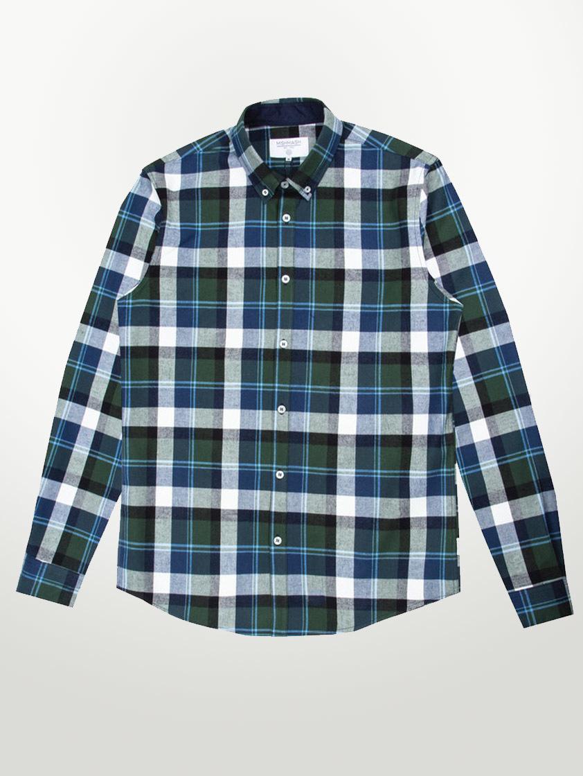 Khaki Motala Check Shirt