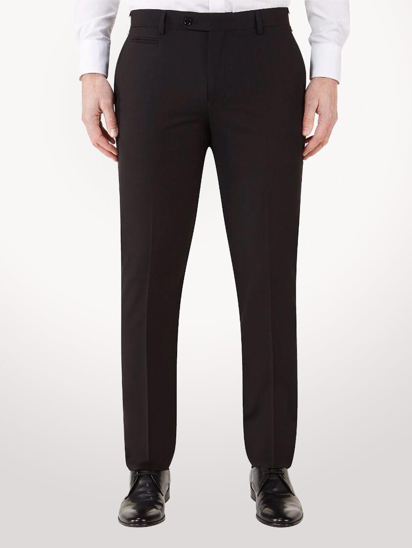 Black Milan Slim Fit Trousers