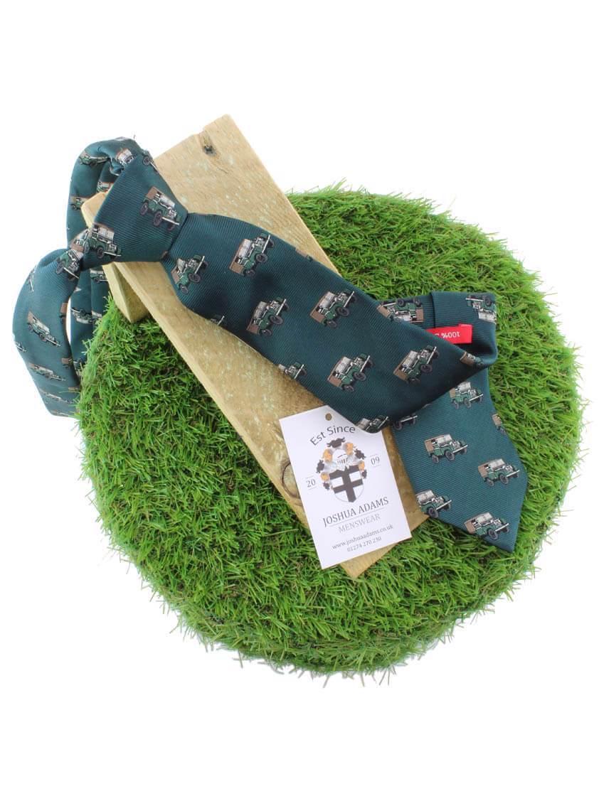 Green 4x4 Landrover Print Tie