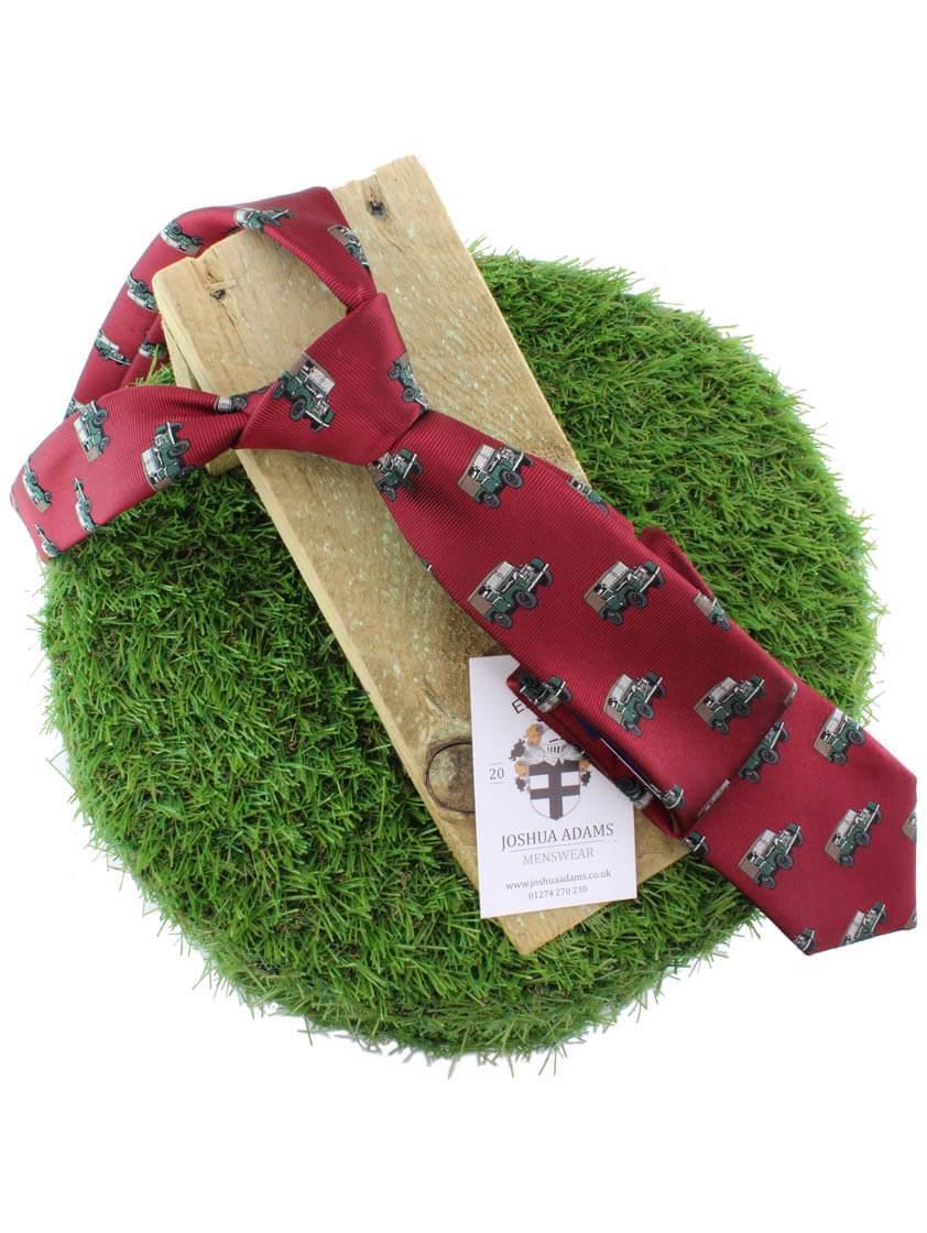 Red 4x4 Landrover Print Tie