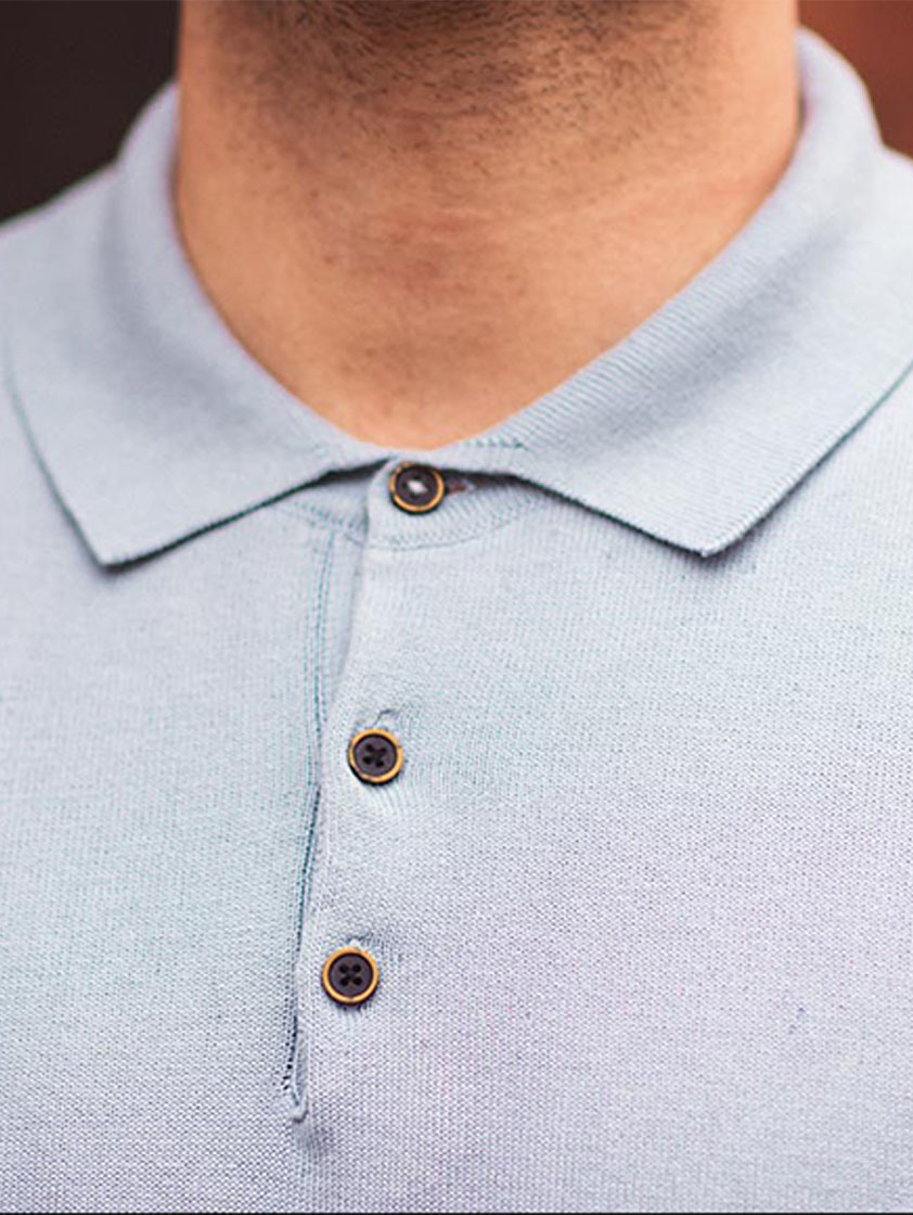 Sky Knitted Slim Fit Polo