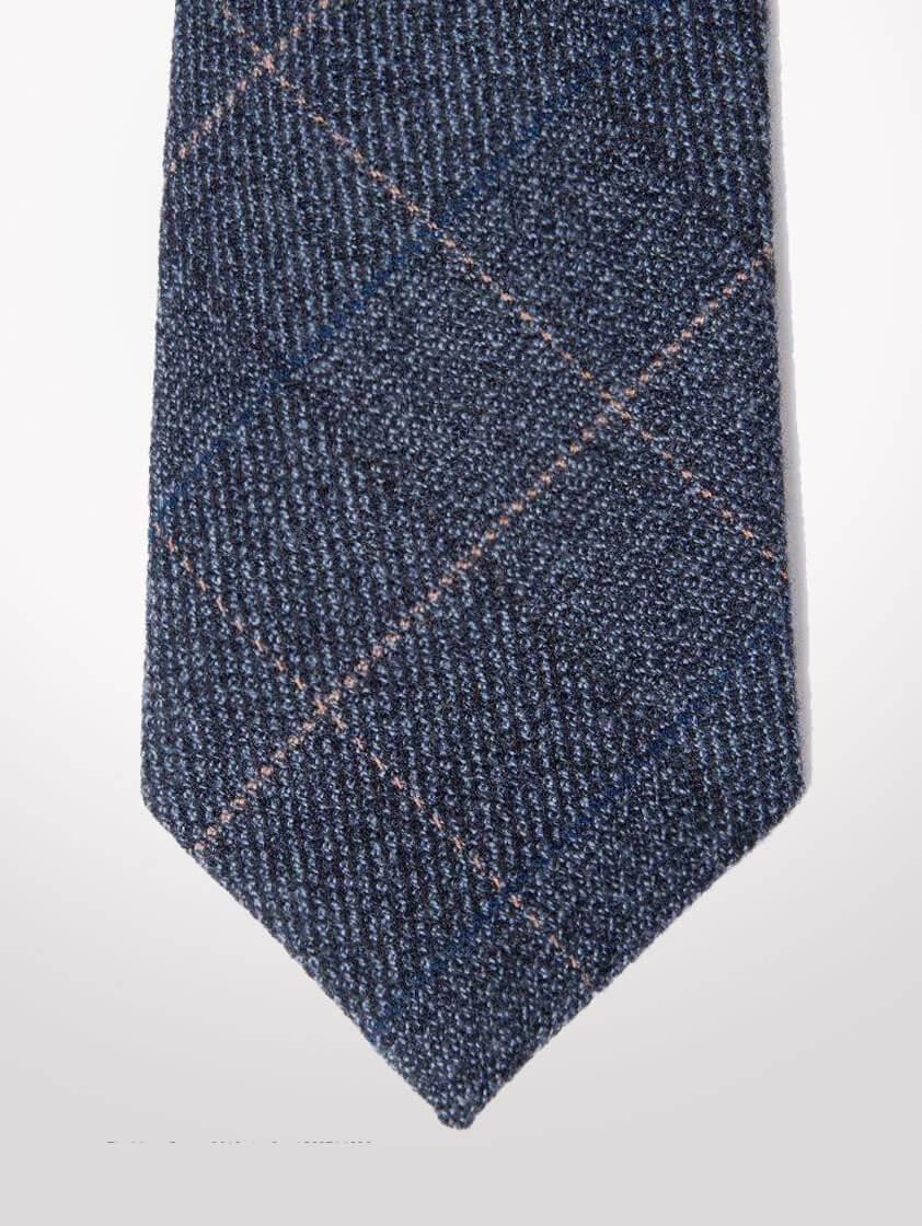 Blue Scott Tweed Check Tie