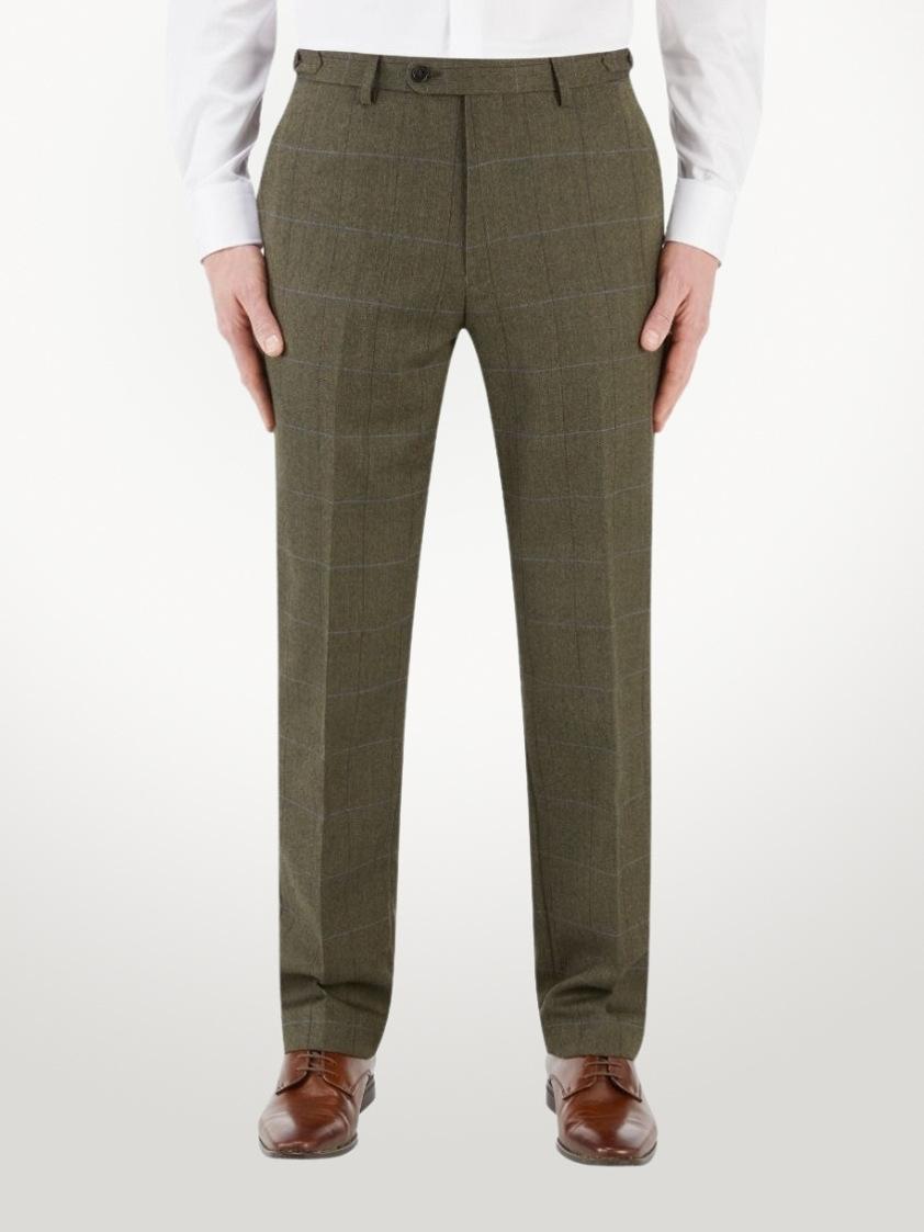 Green Bramwell Lovat Check Tailored Trouser