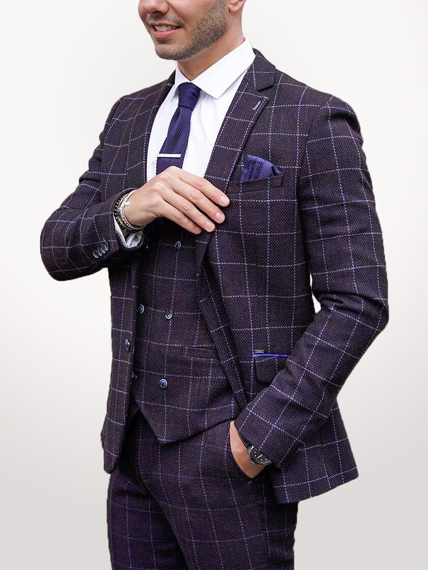 Navy Kerber Tweed  Suit