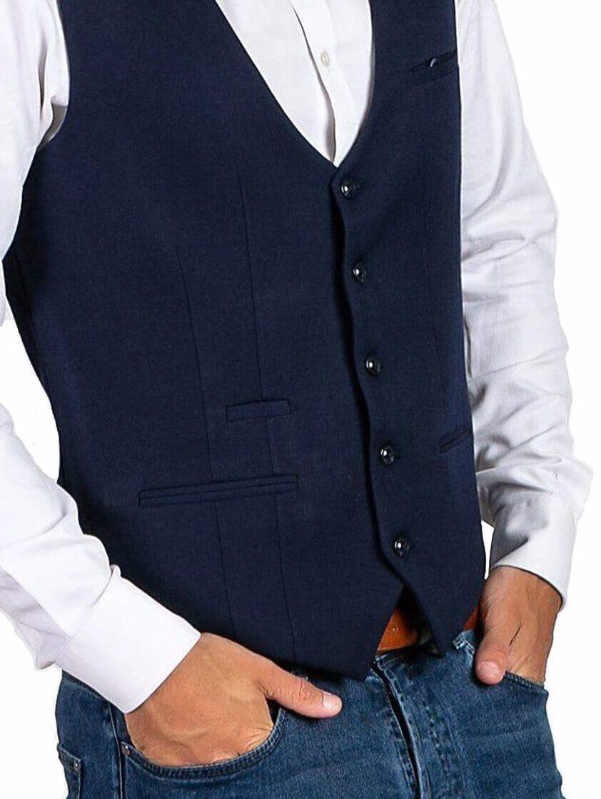 Navy Kelly Single Breasted Waistcoat