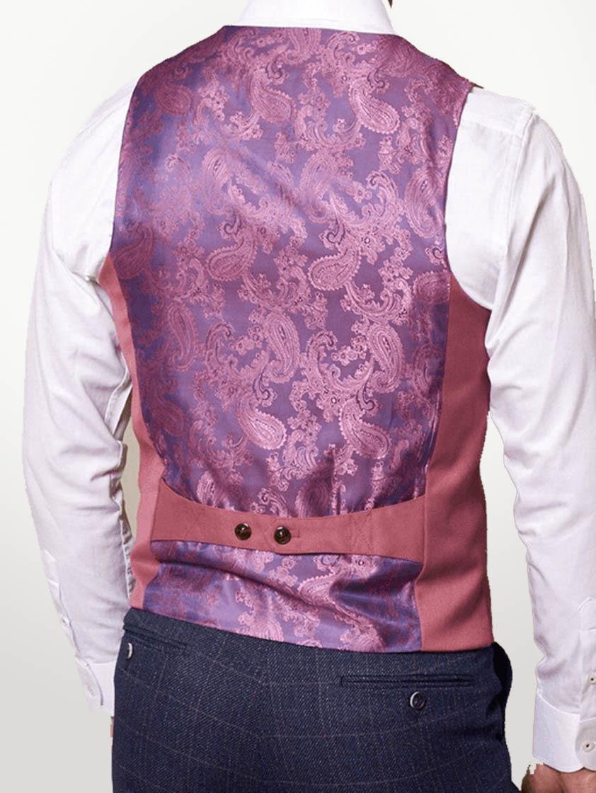 Pink Kelly Single Breasted Waistcoat