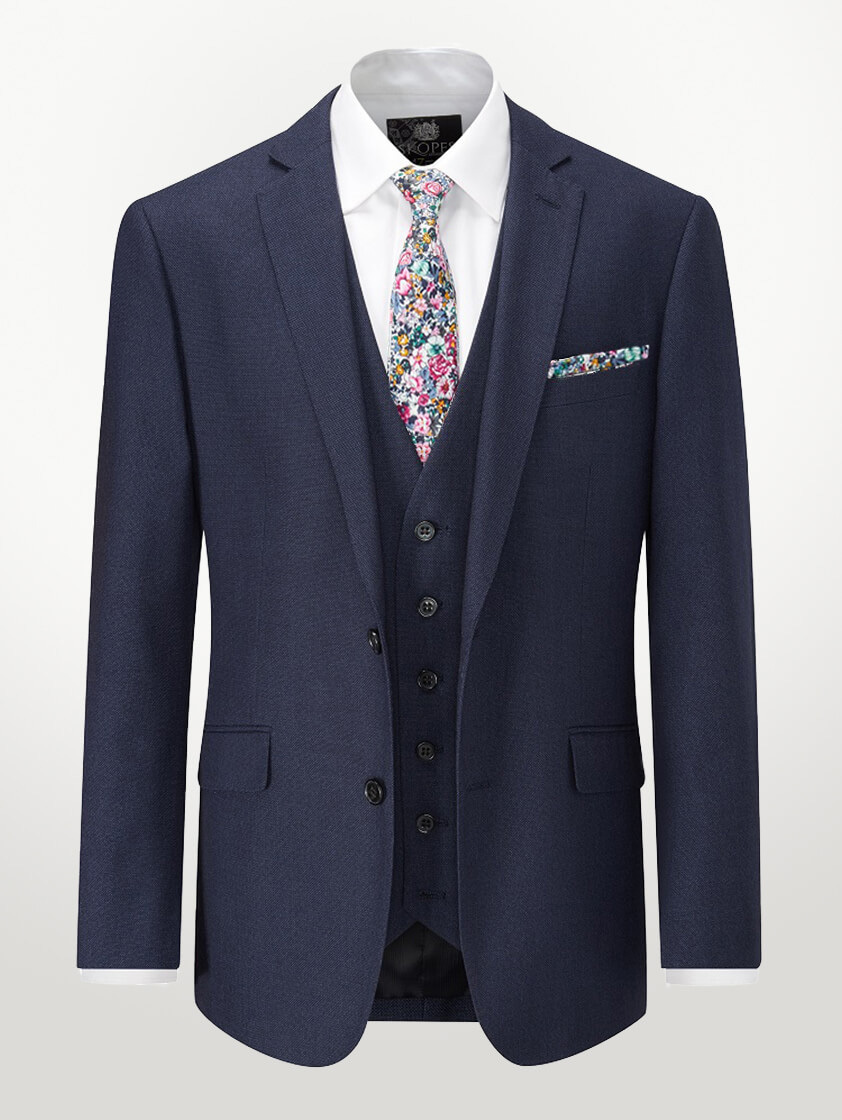 Navy Harcourt Slim Fit Tapered Suit