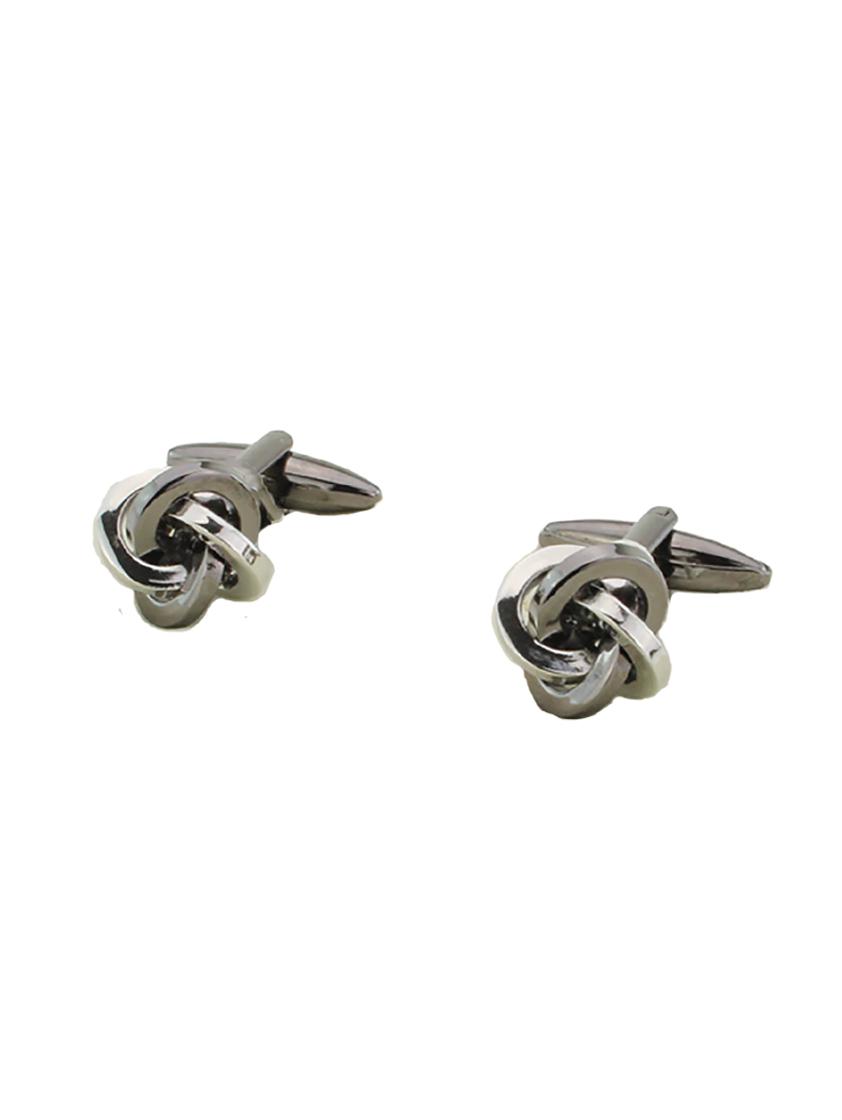 Chrome Knot Cufflinks - SAVE 25%