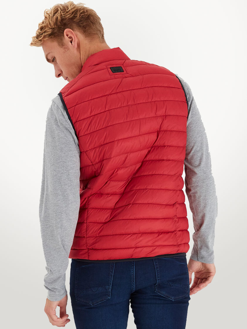 Red Winter Quilted Gilet - SAVE 15%