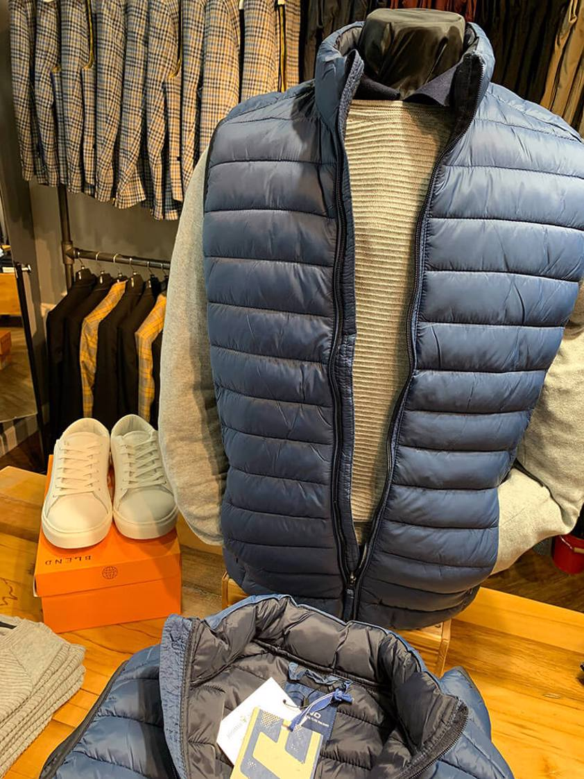 Navy Winter Quilted Gilet - SAVE 15%