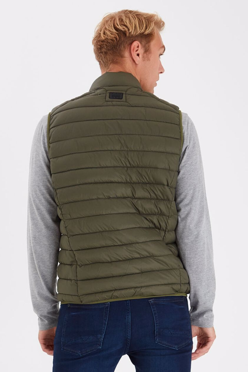Olive Winter Quilted Gilet - SAVE 15%