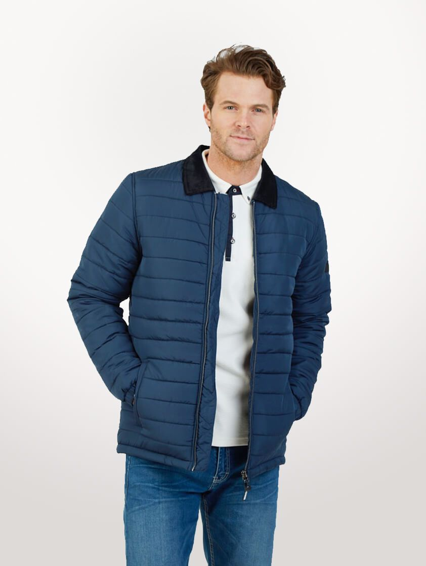 Navy Roman Quilted Jacket - SAVE 16%