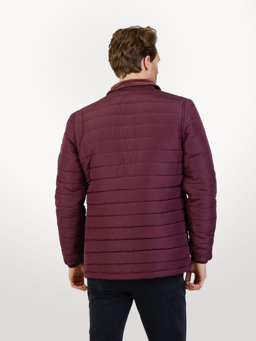 Burgundy Roman Quilted Jacket - SAVE 16%