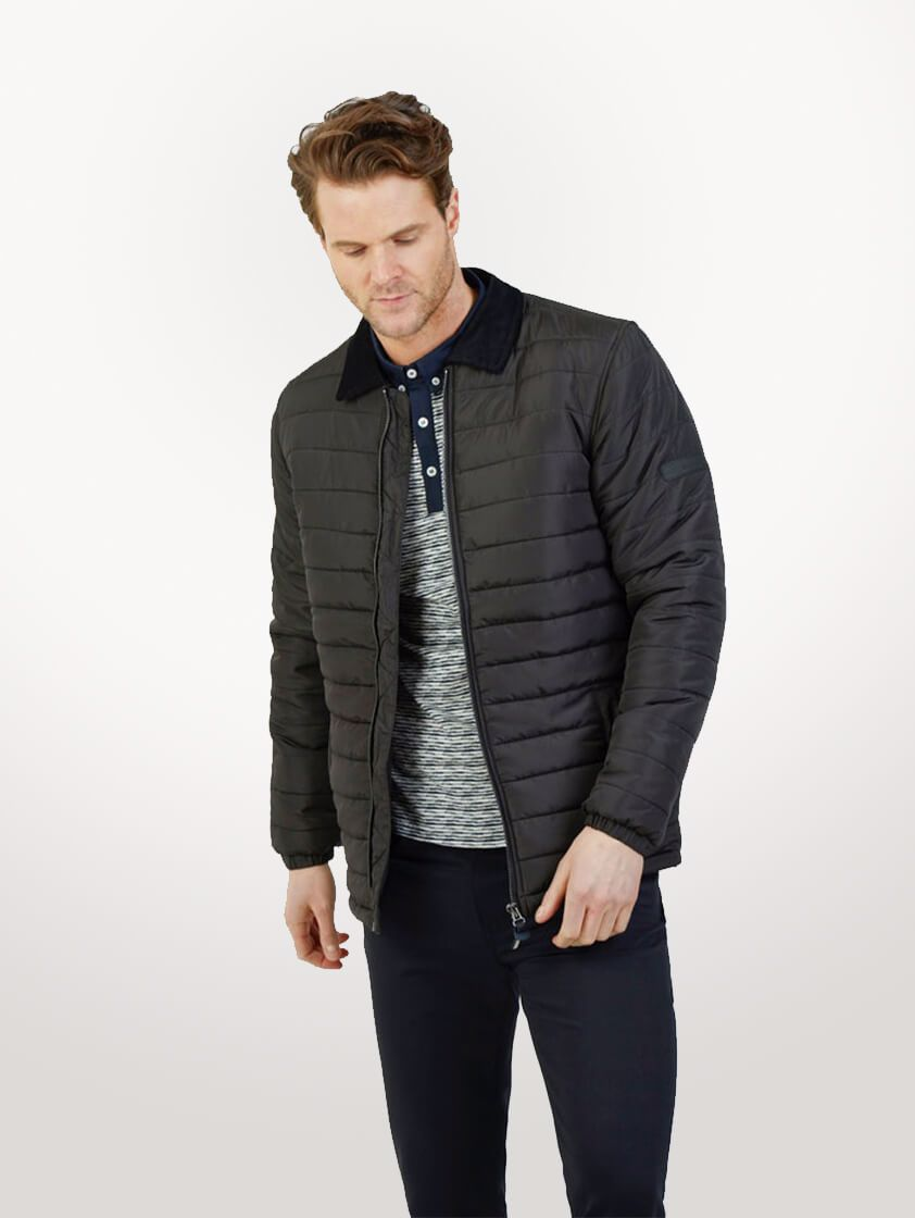 Black Roman Quilted Jacket - SAVE 16%