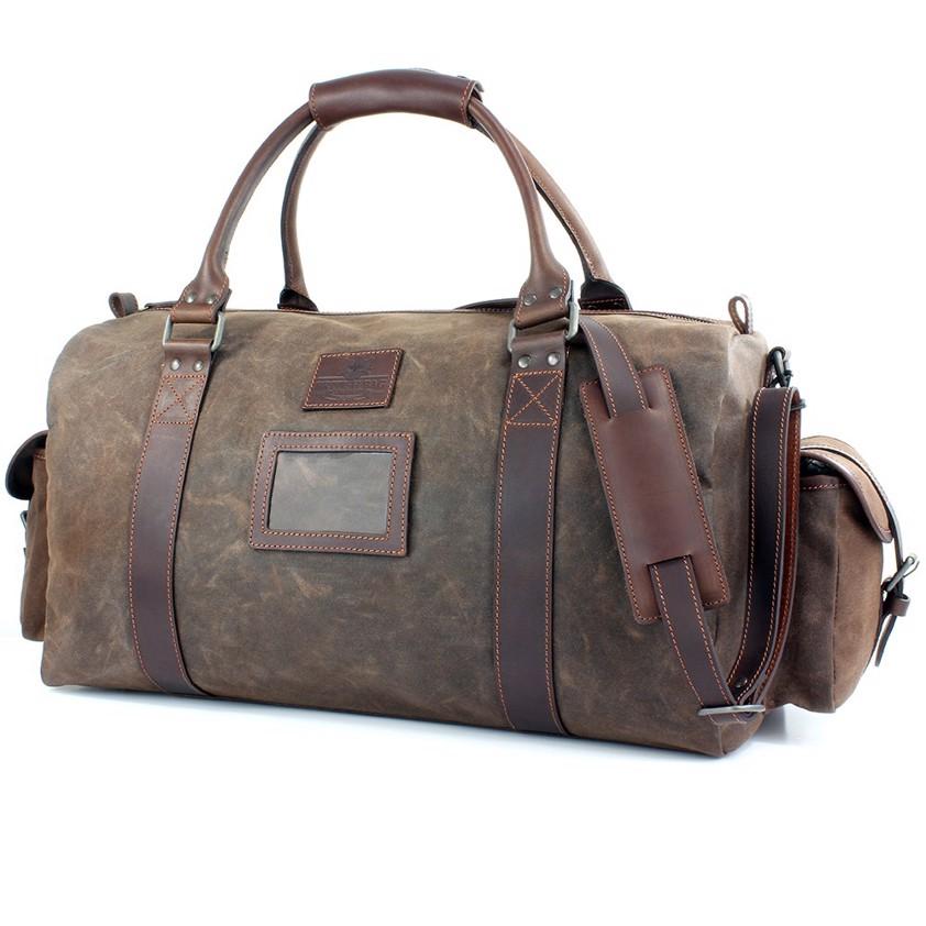 Brown Holdall Wax Canvas Navigator Bag