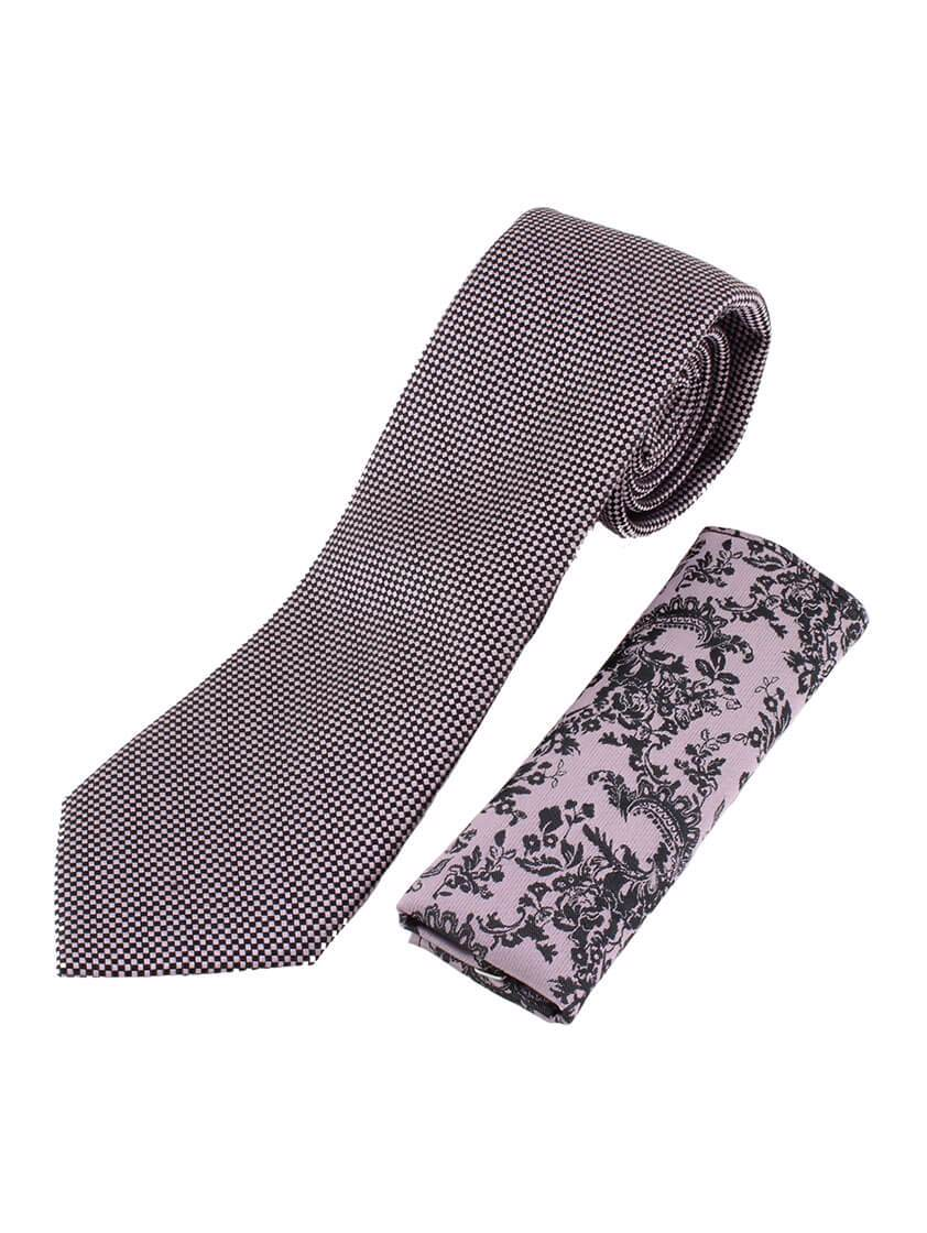 Pink Diamond Weave Tie