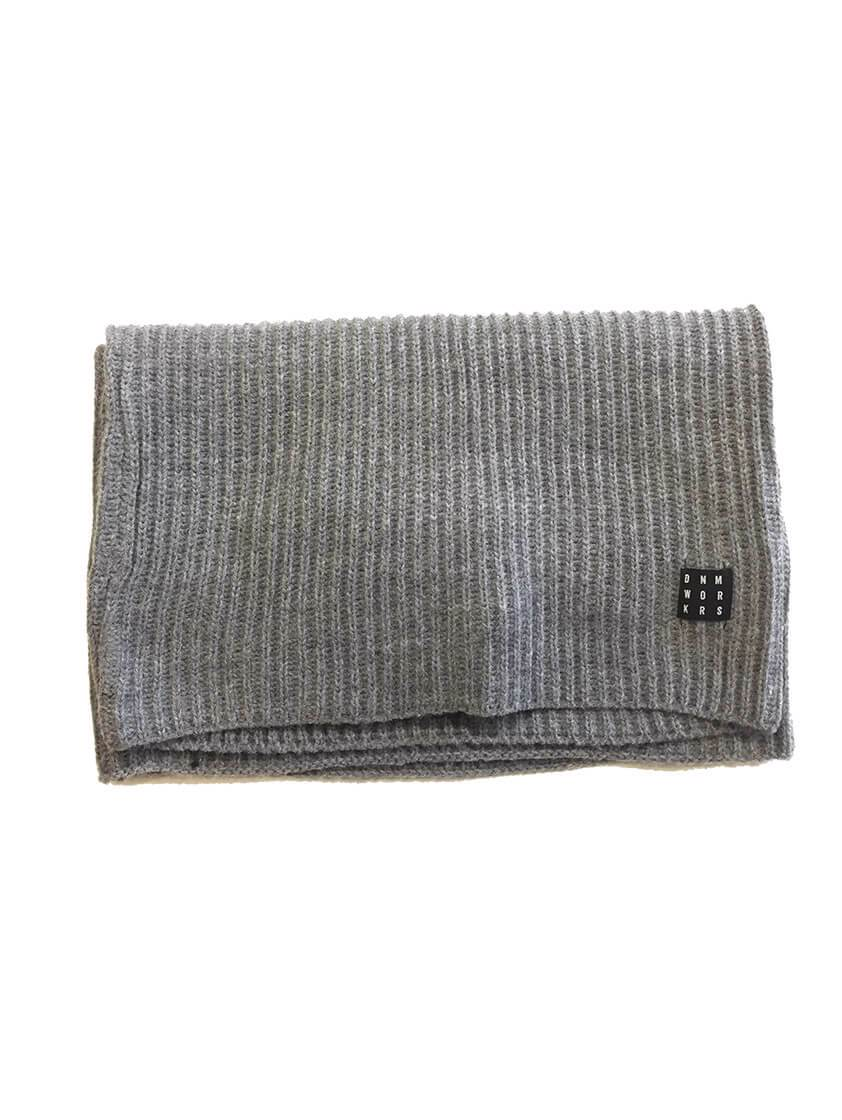Grey Knitted Snood Scarf
