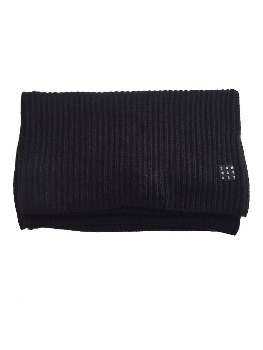 Black Knitted Snood Scarf