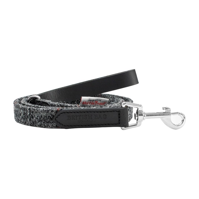 Grey Harris Tweed Berneray Dog Lead and Collar - SAVE 20%
