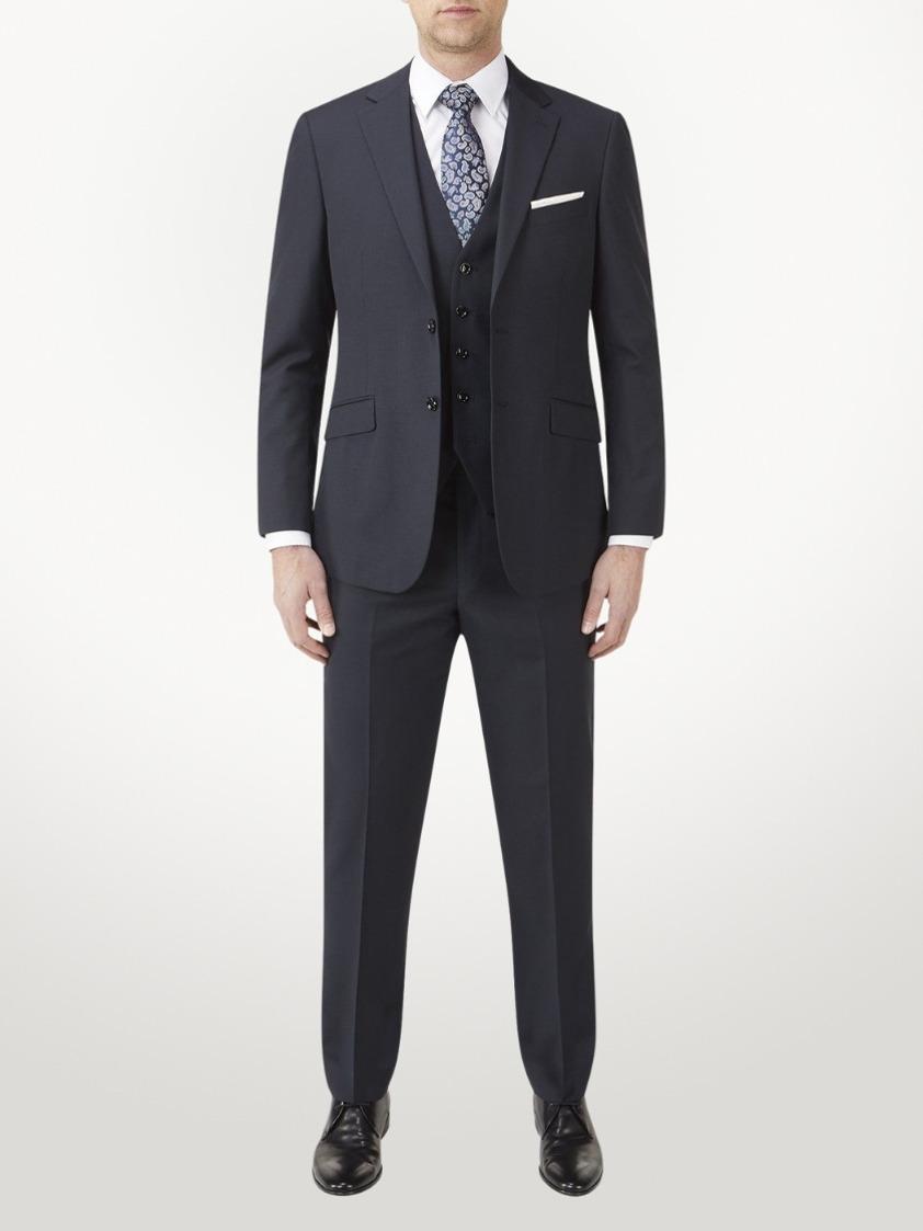 Navy Farnham Tailored Trousers