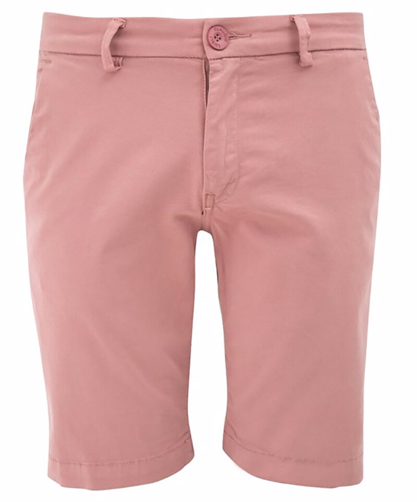 Pink Slim Fit Chino Style Shorts - Save 50%