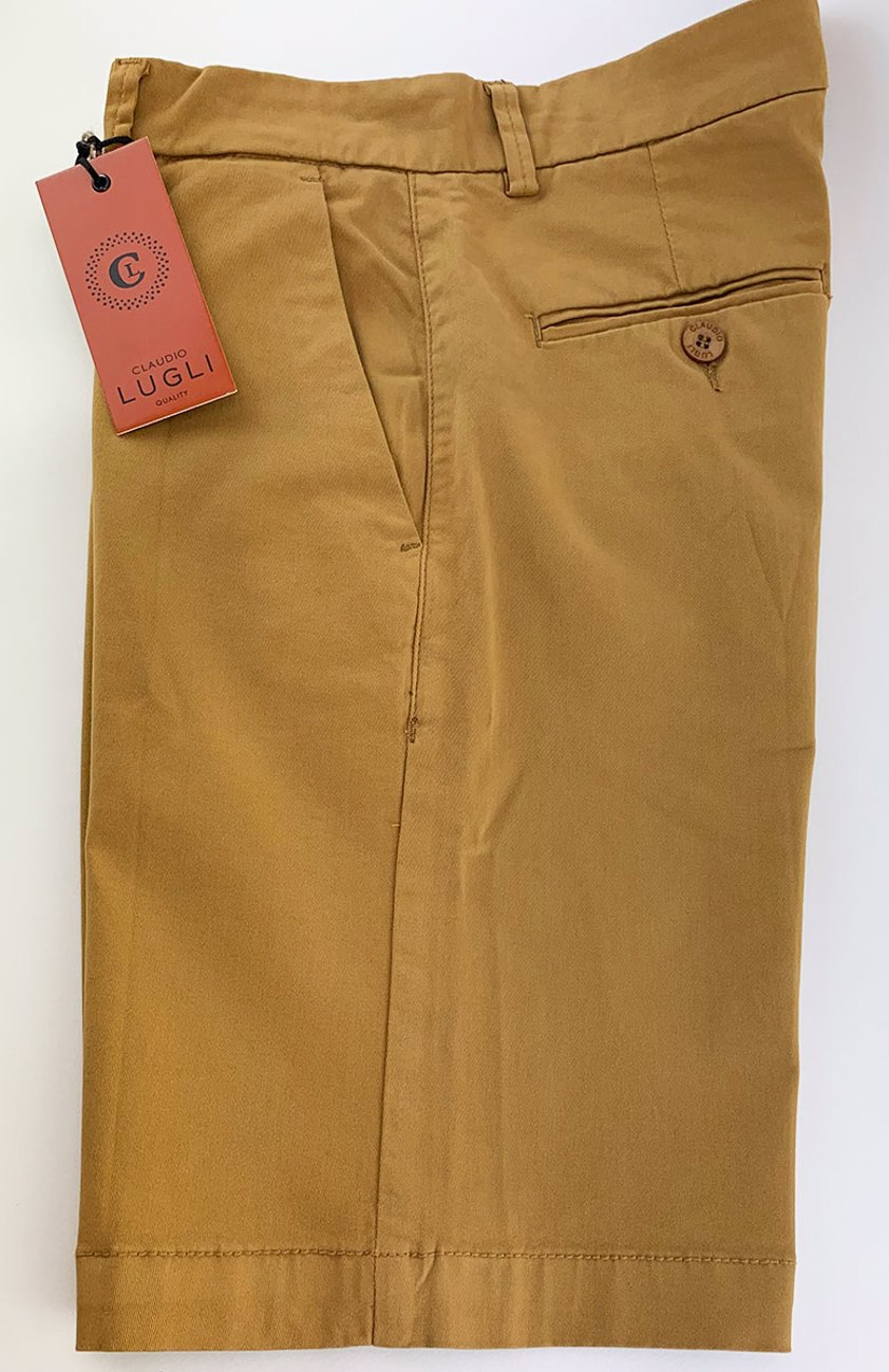 Mustard Slim Fit Chino Style Shorts - Save 50%