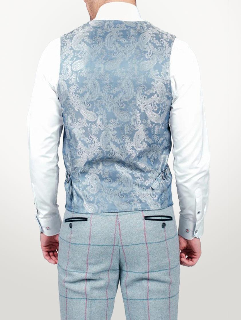 Sky Nicolas Check Slim Fit Waistcoat