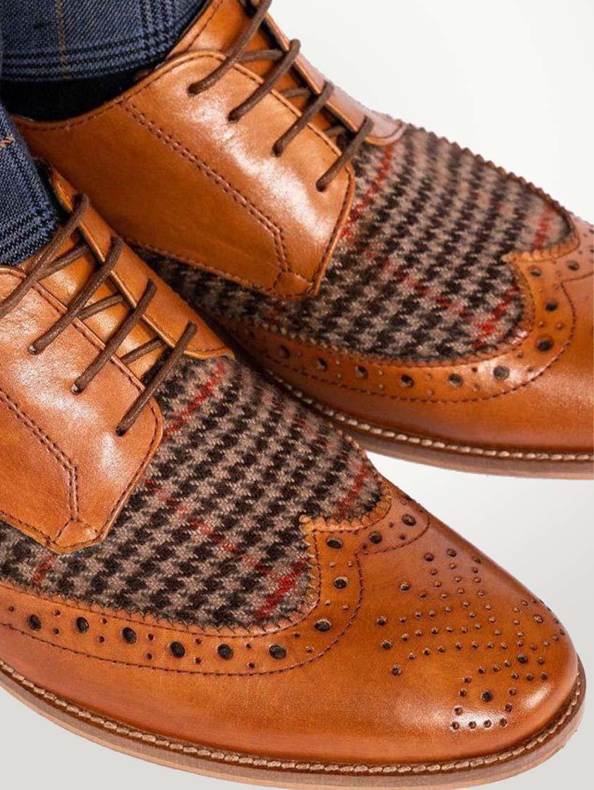 Tan Leather Jacob Shoes - SAVE 15%