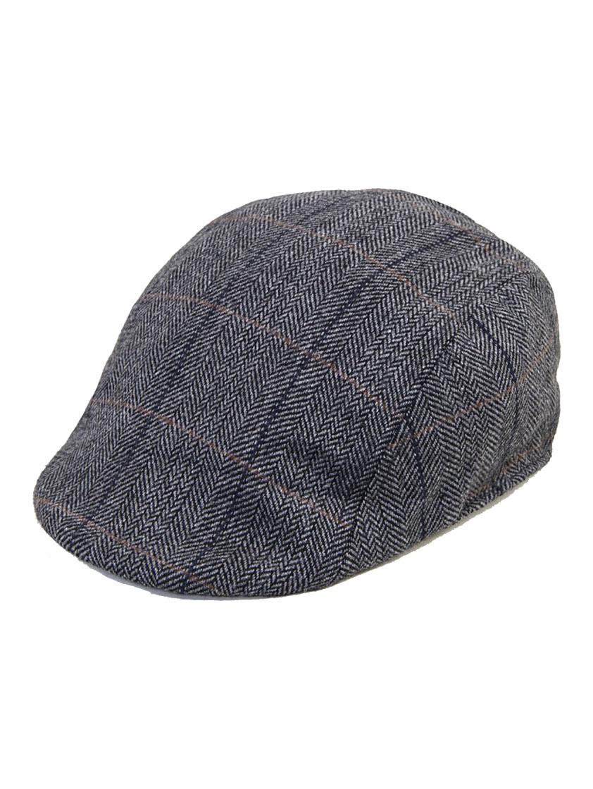 Albert Grey Tweed Flat Cap