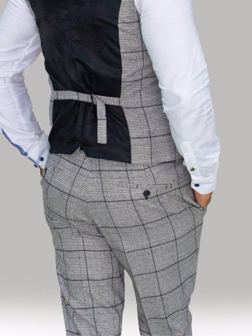 Grey Ghost Grey Tweed Check Trouser