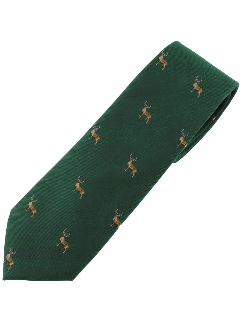 Green Stag Tie