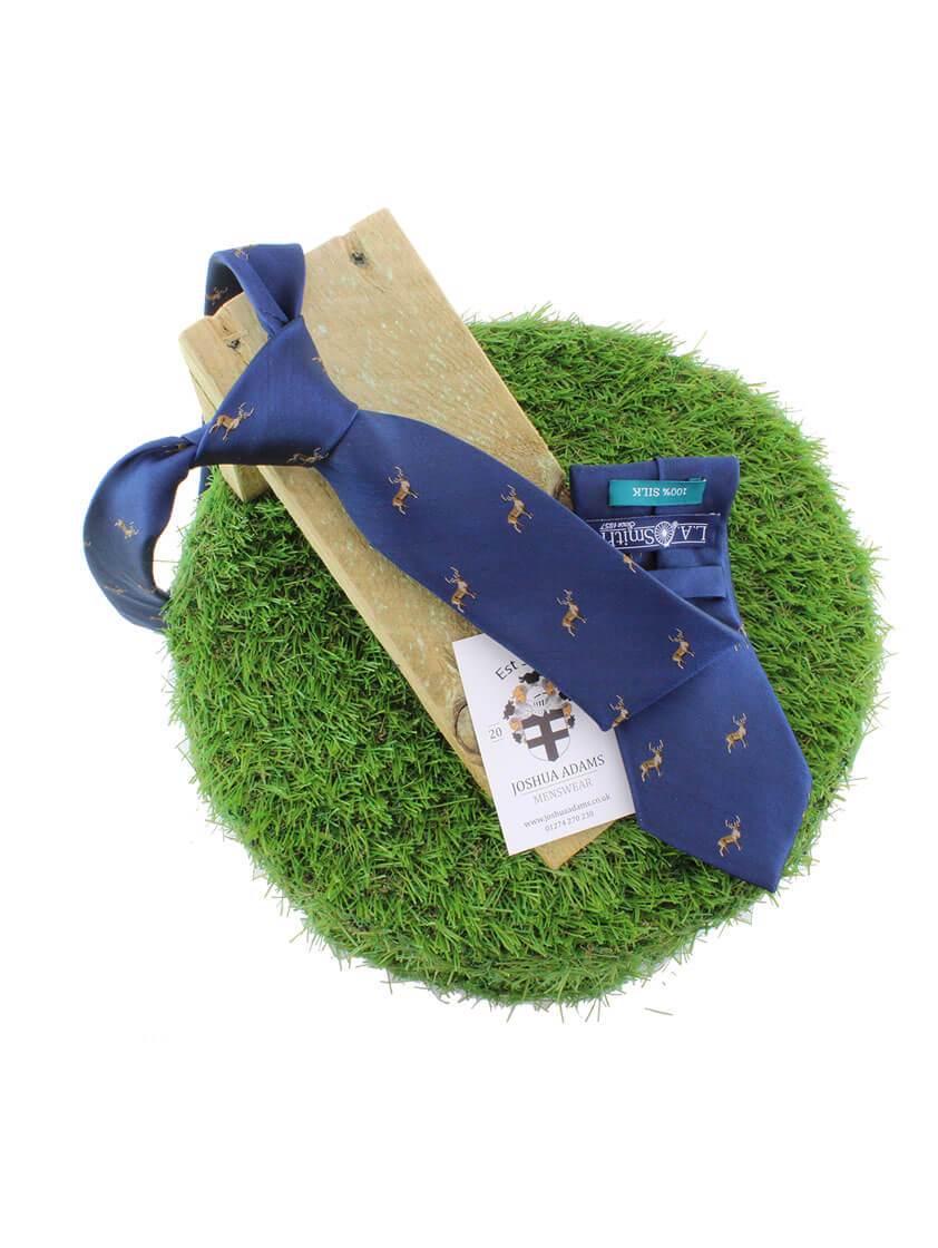 Navy Stag Tie