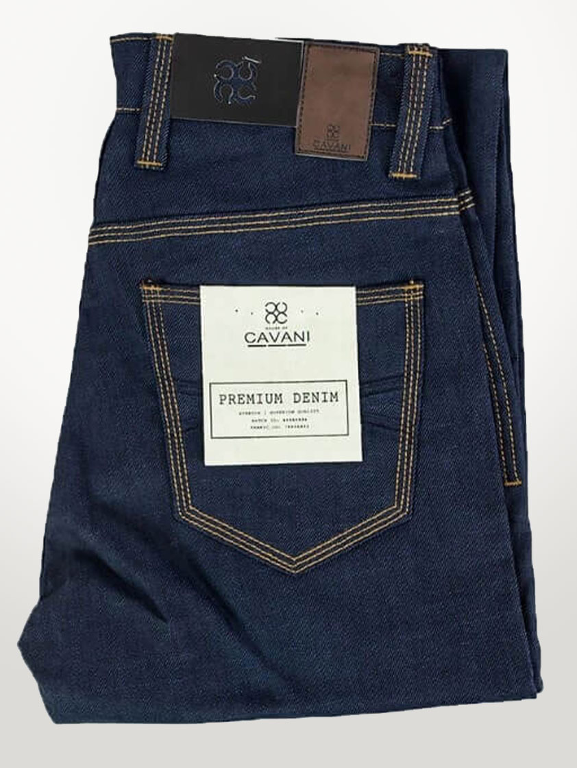 Navy Cole Raw Jeans