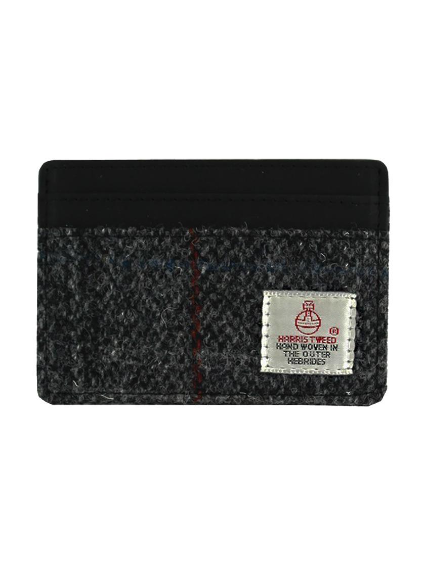 Grey Harris Tweed Cardholder - SAVE 30%