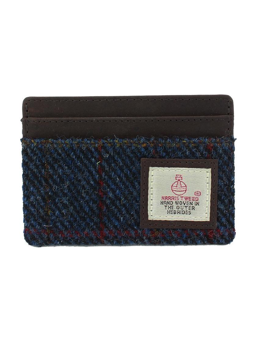 Navy Harris Tweed Cardholder - SAVE 30%