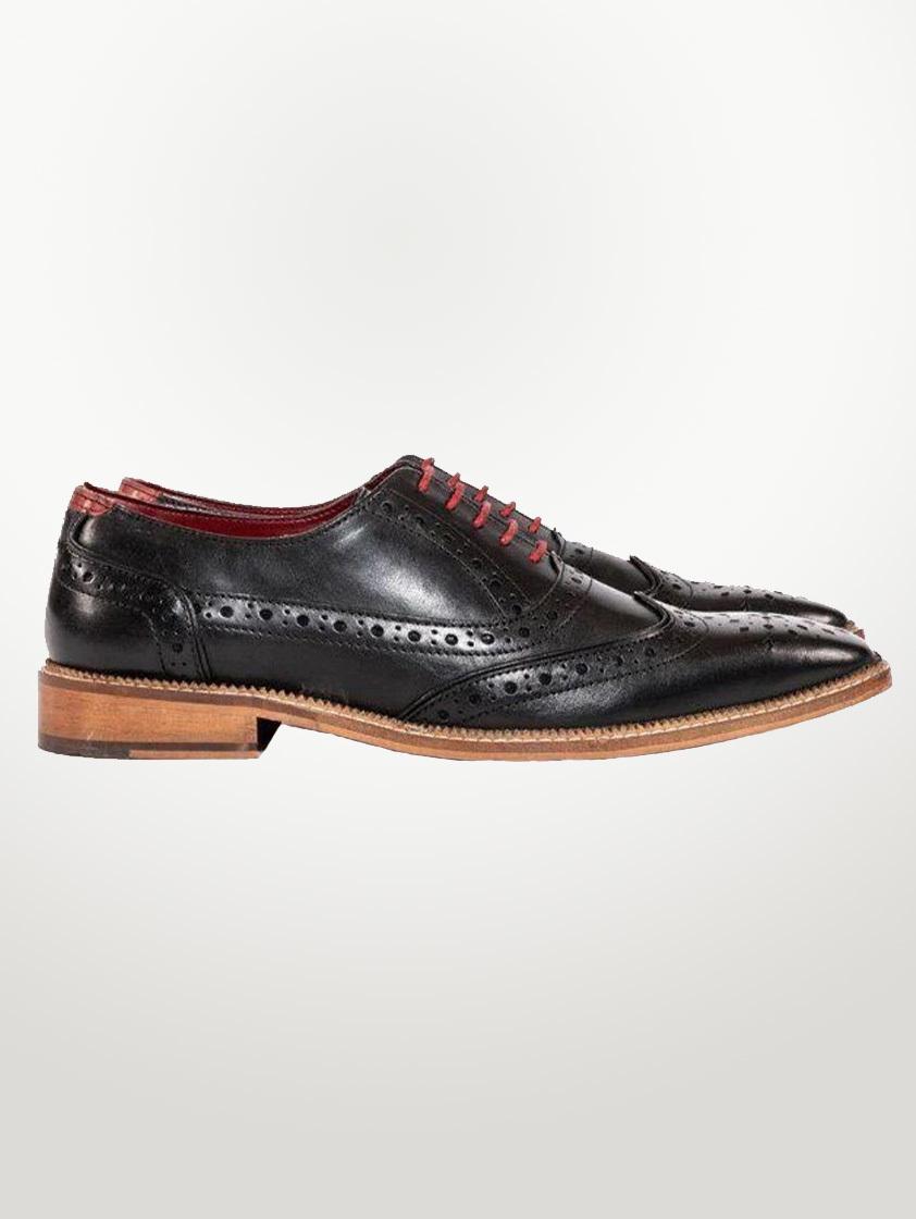 Black Leather Larkin Shoes - SAVE 15%
