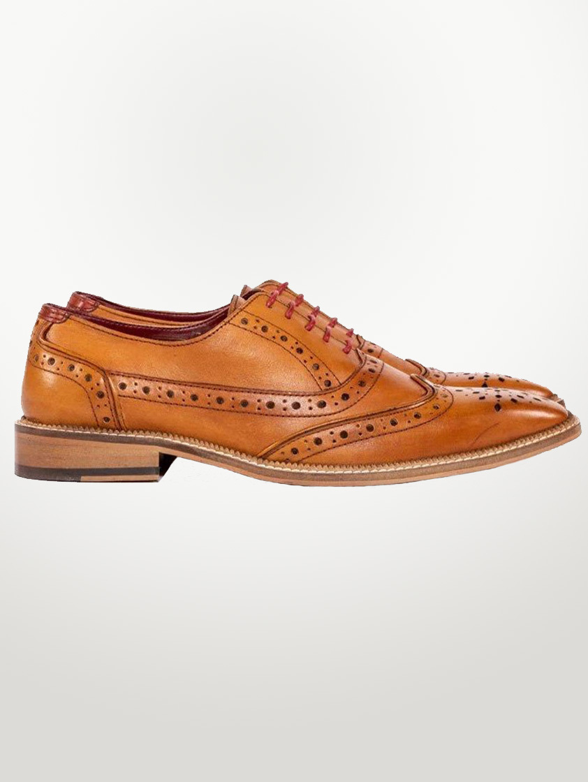 Tan Leather Larkin Shoes - SAVE 15%