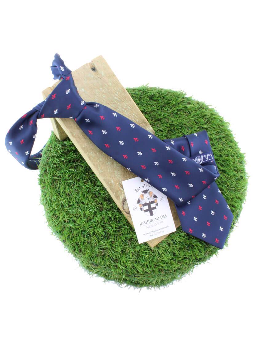 Navy Fleur-de-lis Tie