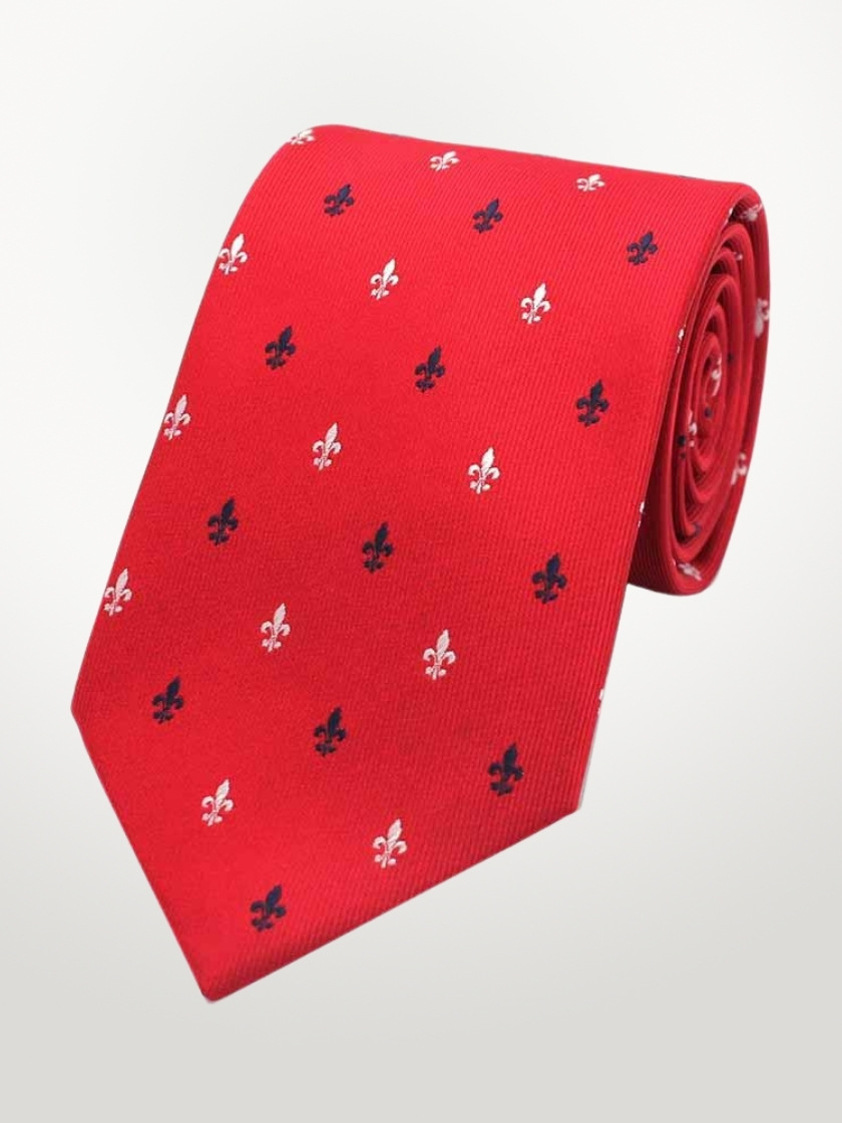 Red Fleur-de-lis Tie