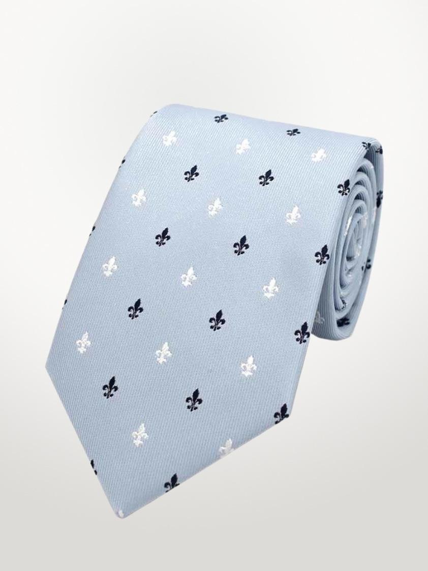 Pale Blue Fleur-de-lis Tie