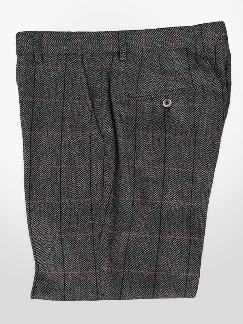 Grey/navy Albert Tweed Trousers