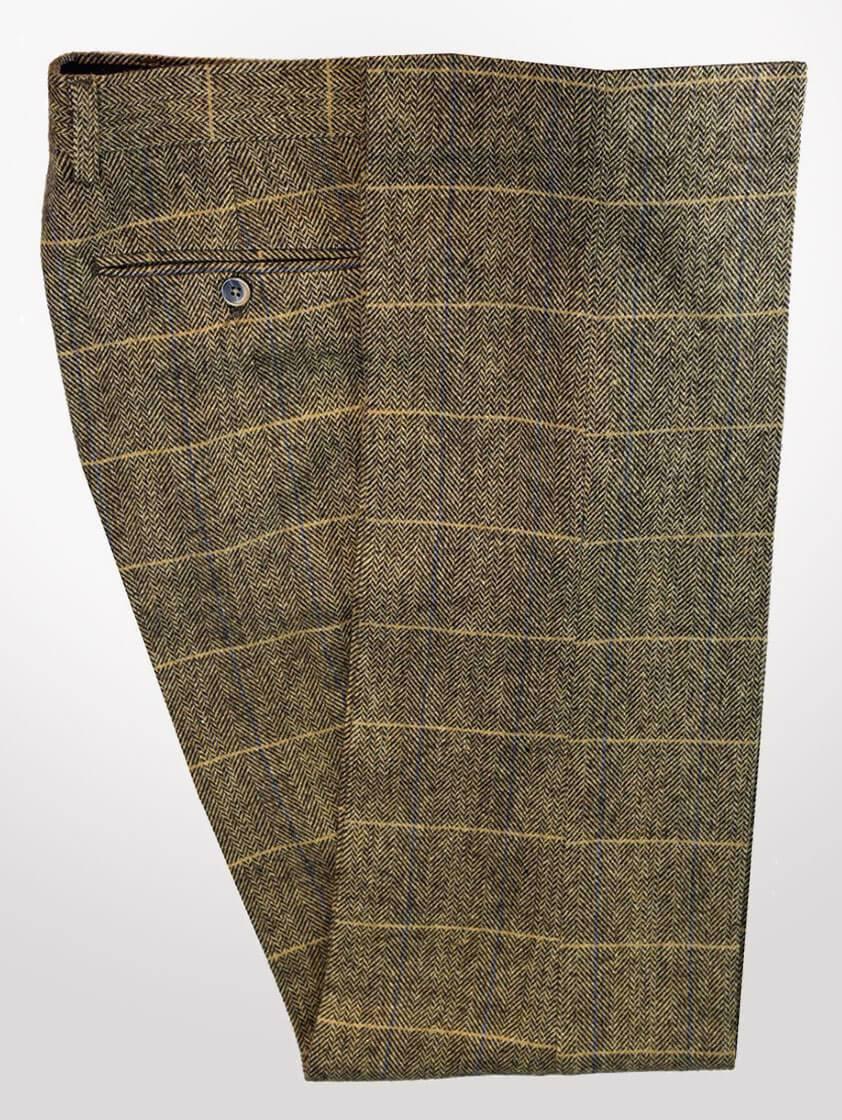 Tan Albert Tweed Trousers