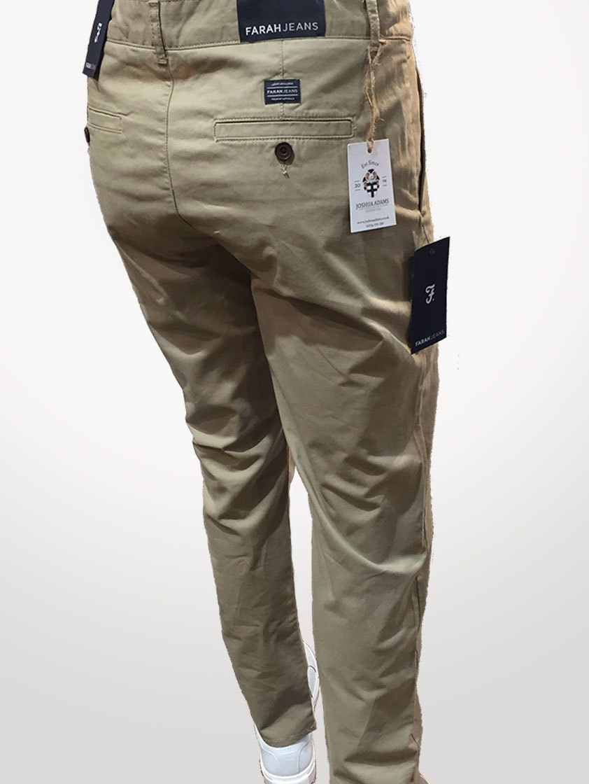 Beige Jeans Casual Chinos - Save 30%