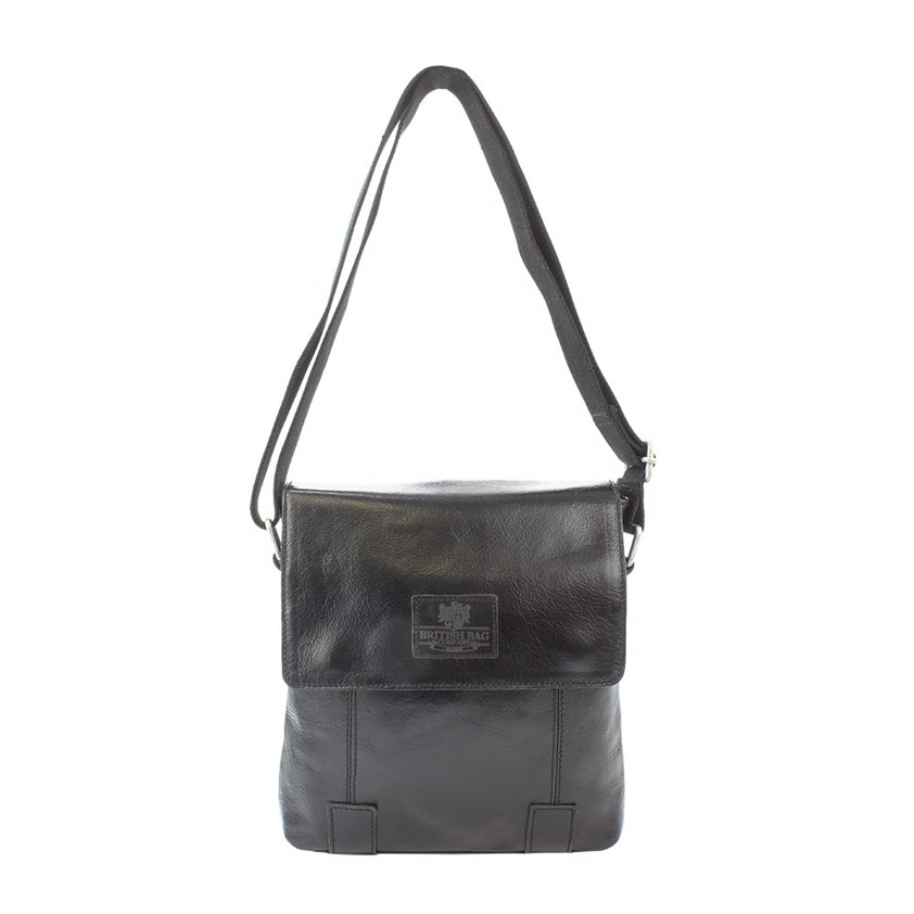 Black Cross Body Leather Bag