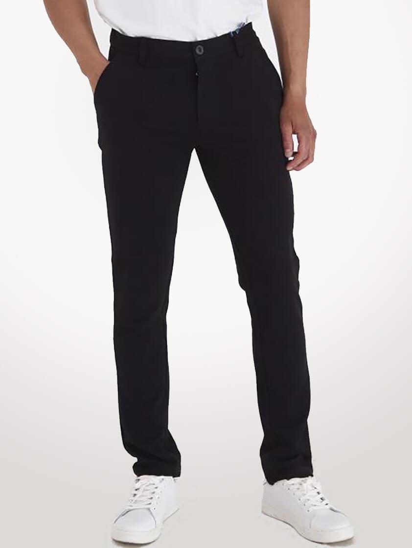 Black Napa Casual Pants