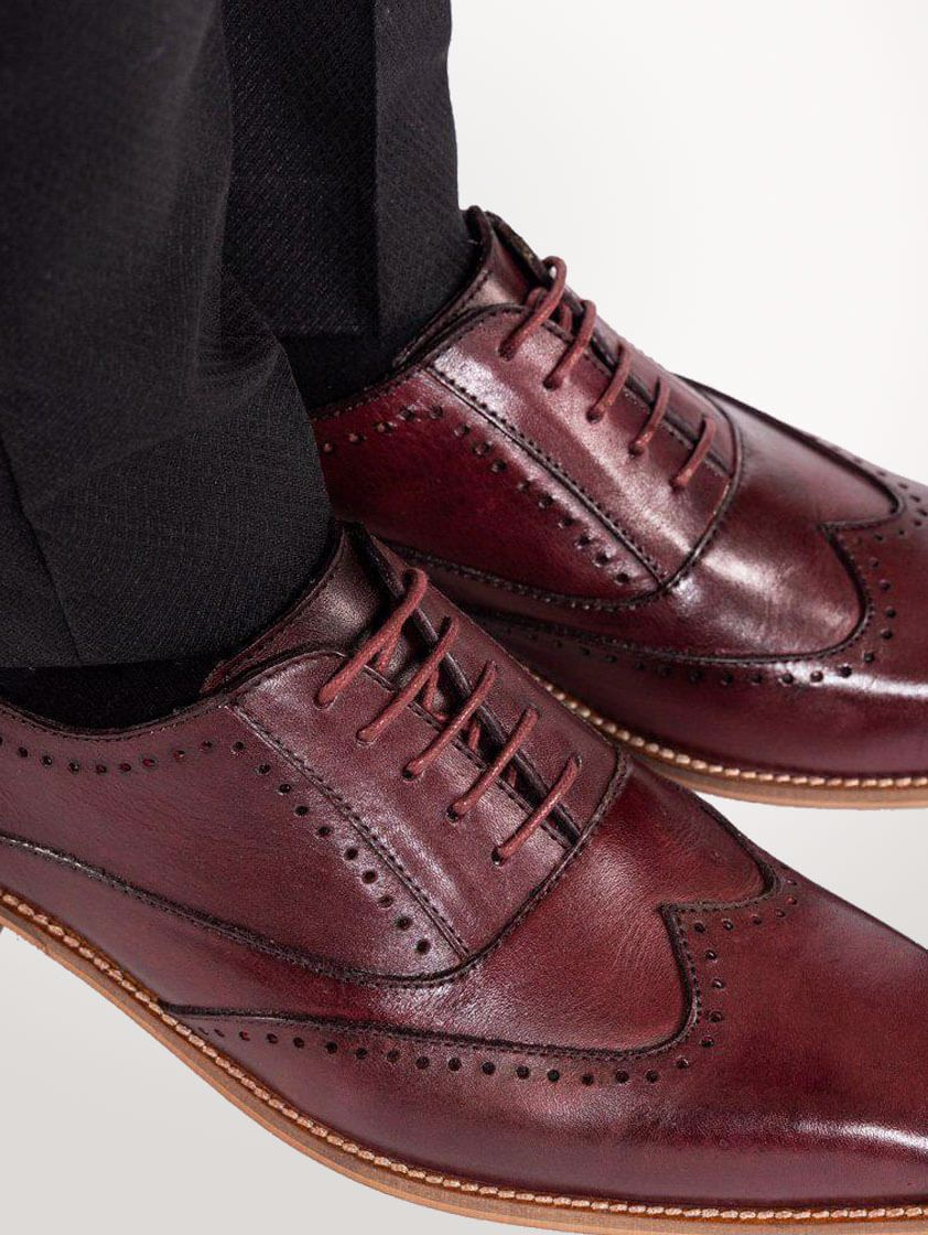 Wine Leather Carson Shoes - SAVE 15%